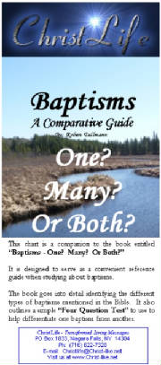 A Baptisms Brochure